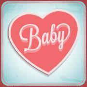 vector vintage love card - stock illustration