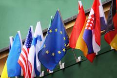 small Euro flag - stock photo
