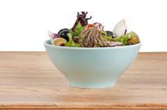 fresh mixed salad - stock photo