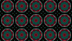 Abstract mosaic in red,green on black - stock footage