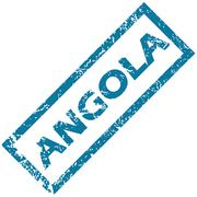 Angola rubber stamp - stock illustration