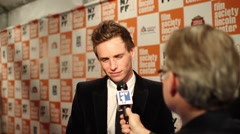 Academy Award winning actor Eddie Redmayne - stock footage