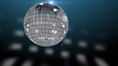 The rolling and sparkling silver disco ball (loop) Stock Footage