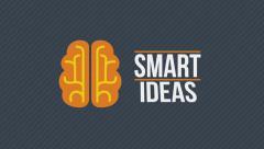 Smart ideas. Motion graphics animation. Stock Footage