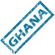 Stock Illustration of Ghana rubber stamp