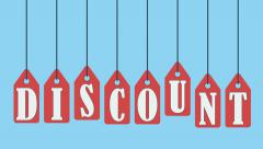 Discount tags. Motion graphics animation. Stock Footage