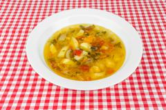 Thick soup in a bowl Stock Photos