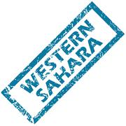 Stock Illustration of Western Sahara rubber stamp