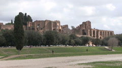 Italy - Rome - Circus Maximus Stock Footage