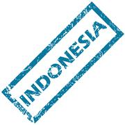 Stock Illustration of Indonesia rubber stamp