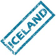Iceland rubber stamp Stock Illustration