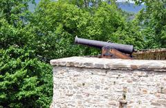 Cannon in the castle Stock Photos
