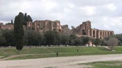 Italy - Rome - Domus Augustana  - Palatine Hill Stock Footage