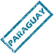 Stock Illustration of Paraguay rubber stamp