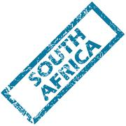 South Africa rubber stamp - stock illustration