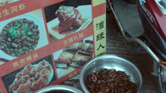 Stock Video Footage of Crawfish in bucket in front of restaurant in China