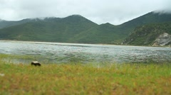 Shangri-La The lake - stock footage