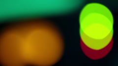 Colorful lights out of focus Stock Footage