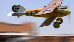 1917 German Albatros D-Va Low Level Fly By Stock Footage