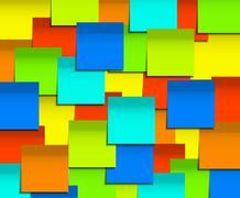 Vector modern square sticky note  background. - stock illustration