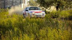 World Rally Car, Championship, WRC, fast and furious Stock Footage