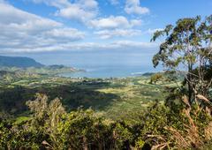 View of Hanalei from Okolehao Trail Kauai Stock Photos