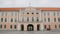 Estonian parliament Stock Footage