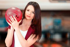 Stock Photo of Leisure time in bowling club