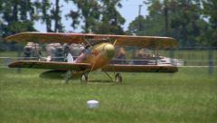 1917 German Albatros D-Va Take Off Stock Footage