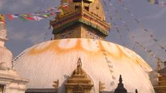 Swayambhunath stupa at Kathmandu in Nepal Stock Footage