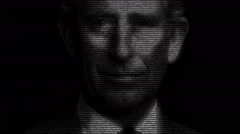 Animation of Charles prince of wales with numbers running Stock Footage