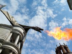 Dragon at Diagon Alley near the Harry Potter ride at Universal Studios Florid - stock photo
