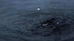 Trickle. Water drop. tear - stock footage