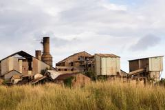 Desolate sugar mill near Koloa, Kauai - stock photo