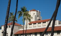 Honolulu Hale seat of Government in state - stock photo