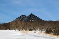 Snow in the Appalachia Mountains - stock photo