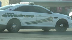 Pasco County Sheriff Police Car With Flashing Lights Stock Footage