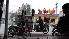 Hawkers on the street Stock Footage