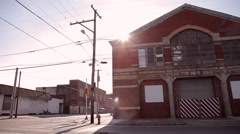 Warehouse district Stock Footage