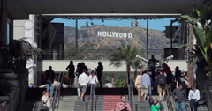 Hollywood sign from shopping mall - stock footage