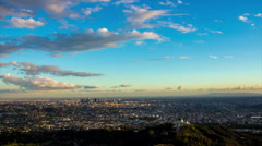 HD Sunset Day To Night Timelapse of Los Angeles - stock footage