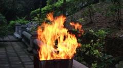 Burning votive, prayer, blessing festival Stock Footage