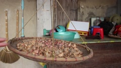 Dried onion, onion Stock Footage