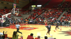 4K fast break 3 point shot college basketball Stock Footage