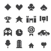 8 bit  icons set Piirros