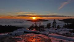 Above The Clouds Mountain Sunset Timelapse - stock footage