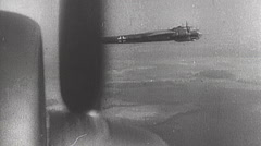 Rare WWII German Luftwaffe Film - German Ju 88 Bomber - stock footage
