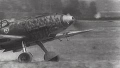 Rare WWII German Luftwaffe Film - Me-109 Taxi TakeOff Stock Footage