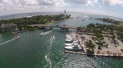 Coastal marina in Florida Stock Footage