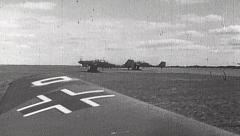 Rare WWII German Luftwaffe Film - Junkers Ju 87 Take Off Stock Footage